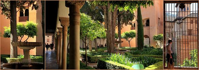 Jardin de Lindaraja, Palais Nasrides, Alhambra, Granada, Andalucia, Espana