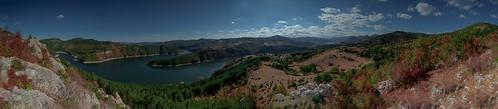 nikond750 nikon d750 nikonafs20mmf18 20mm panorama landscape bulgaria rhodope mountain water dam blue sky