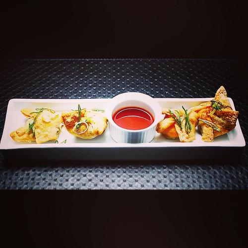 Dumpling de Camarones y Hongos Shitake