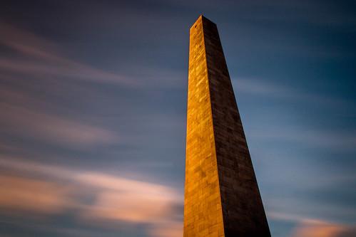 sunset monument boston massachusetts le charlestown revolutionarywar freedomtrail bunkerhillmonument nd110