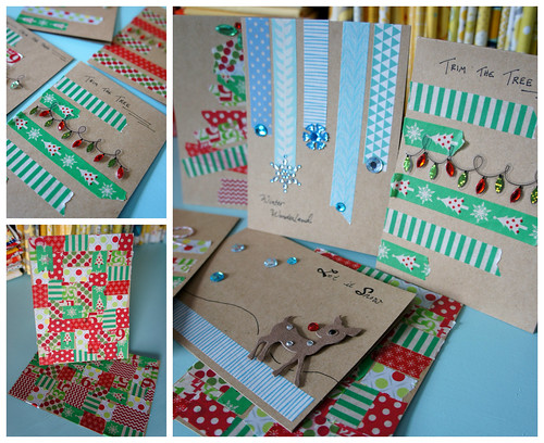 washi tape Christmas cards2