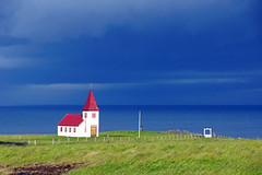 Dark blue sky over Hellnar, Snæfellsnes