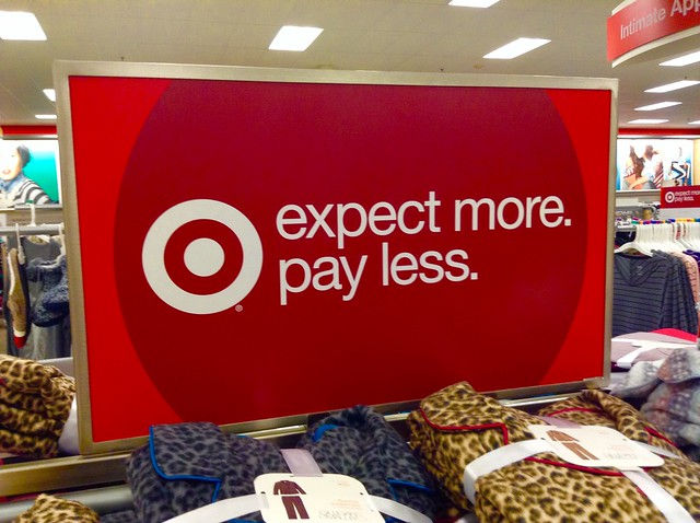Target Store Sign, 12/2014, by Mike Mozart of TheToyChannel and JeepersMedia on YouTube #Target #Store #Sign from Flickr via Wylio
