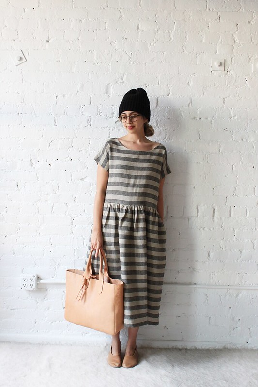 bastille dress + gretel tote