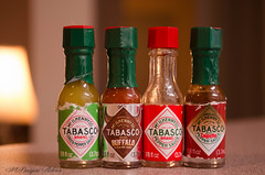 Tiny Tobasco bottles