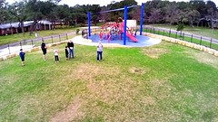 Still image from DJI Phantom drone about 30 feet up at Memorial Park.