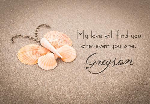 Greyson's Seashell Butterfly
