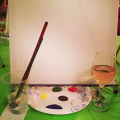 Thumbs up to my first paint and wine night :thumbsup::thumbsup: