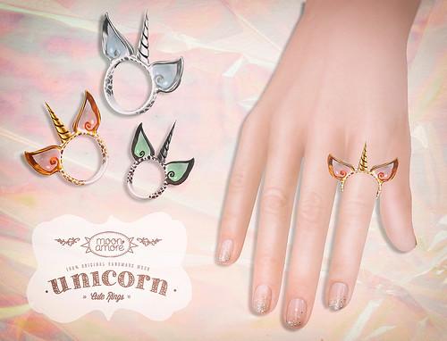 :Moon Amore: Unicorn Rings - Gift