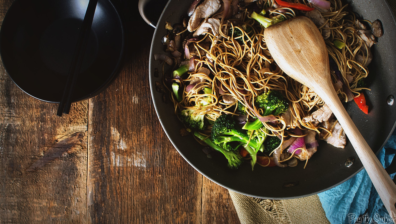 Weeknight Wok Fried Pork Lo Mein | GirlCarnivore.com