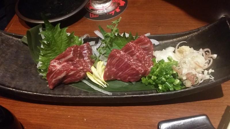 shinjuku supper - horse sashimi