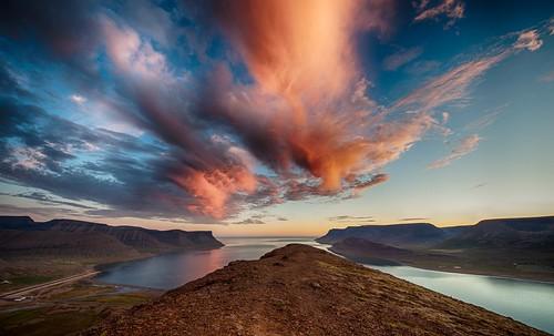 sea sky clouds sunrise iceland nikon dýrafjörður nikonphotography sandafell nikond700 kristinnr