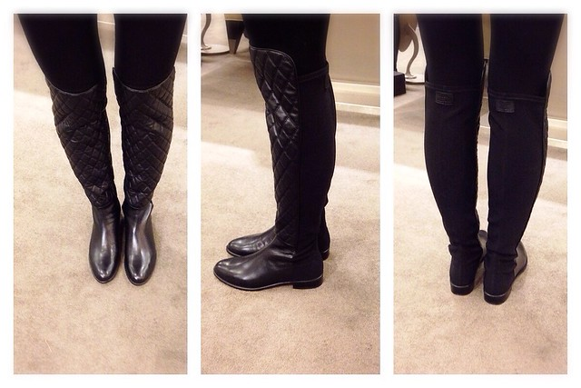Stuart Weitzman quilted OTK boots