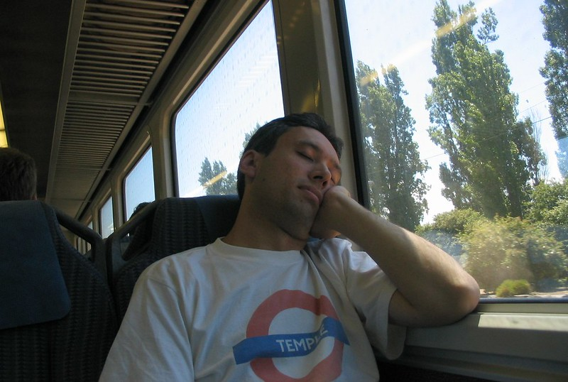 Asleep on the train home from Warragul