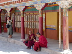 Monks resting at Hemis Monastry