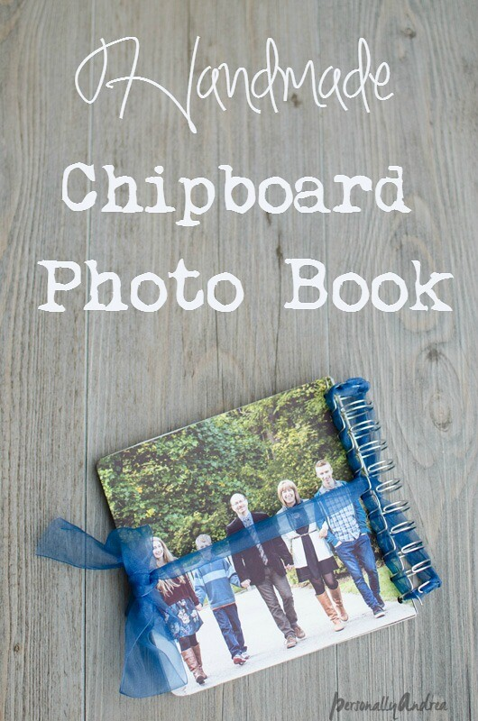 Handmade Chipboard Photobook | personallyandrea.com