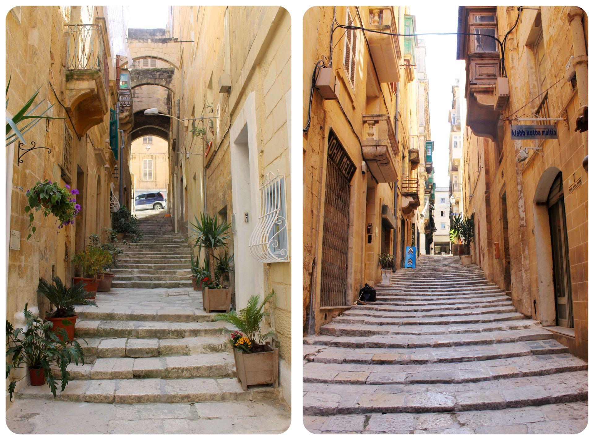 Malta Valletta stairs