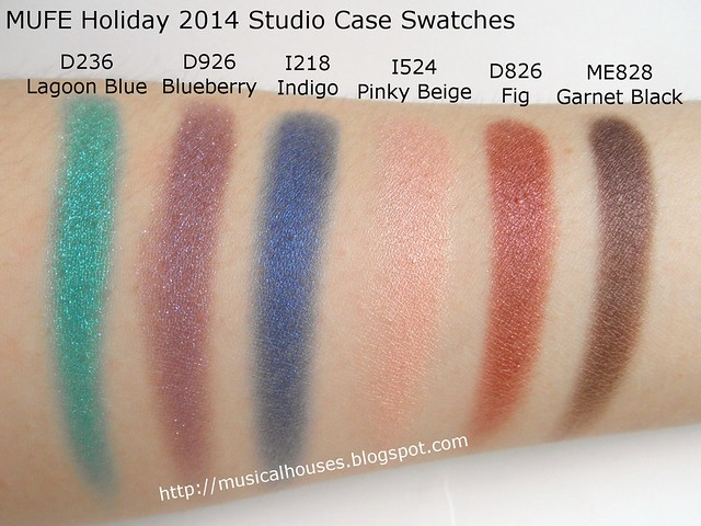 MUFE Studio Case Swatches 2