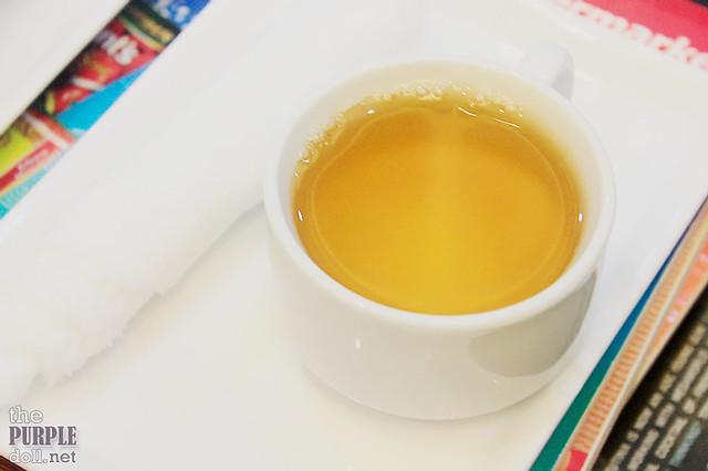 Tea after the massage at Nuat Thai