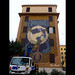 """Roma. Tormarancia. Street art. """"Hic sunt Adamantes"""" by Diamond. At work. For Big City Life Project by R come Rit@"""