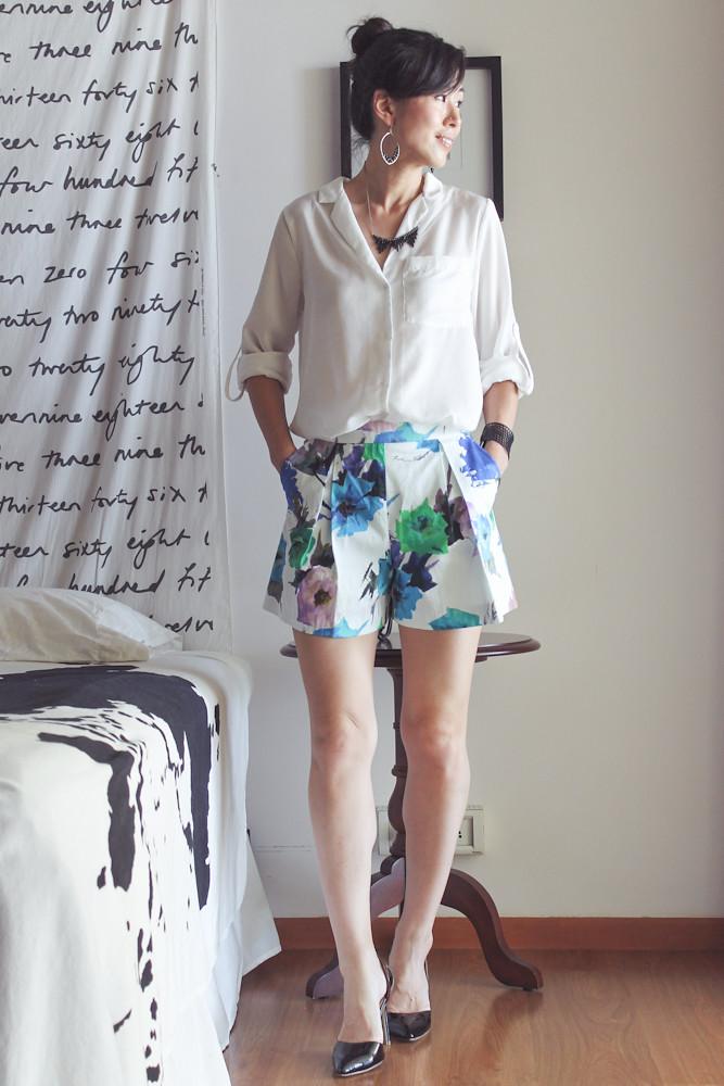 Zara Flower Print Shorts-3