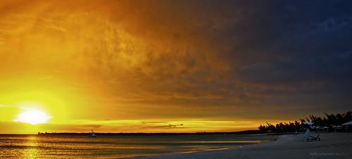 sunset beach water canon longisland caribbean bahamas