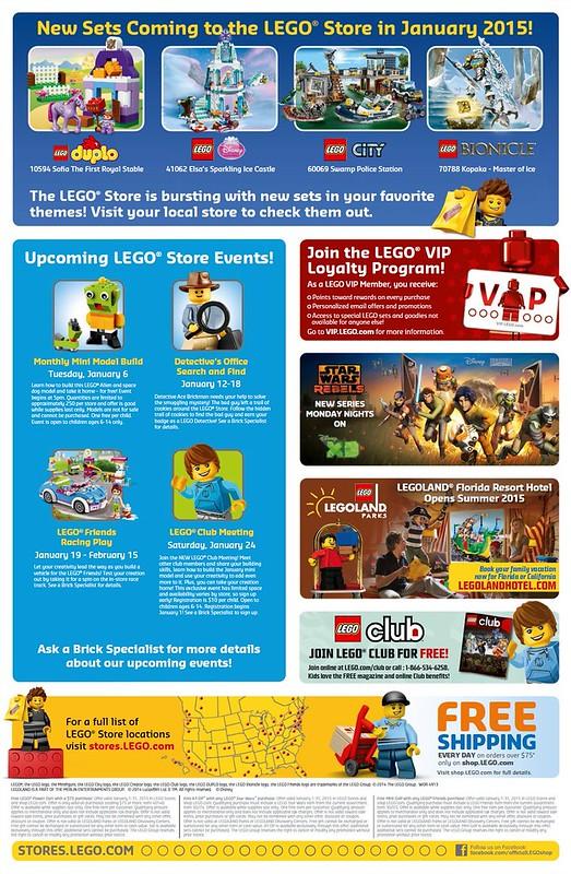 LEGO Shop January 2015 Calendar 2