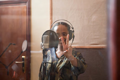 Abelone Melese, National Ambassador to Ethiopia, records IMAGINE in a studio