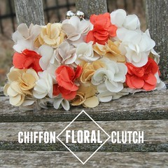 how to make a chiffon floral clutch