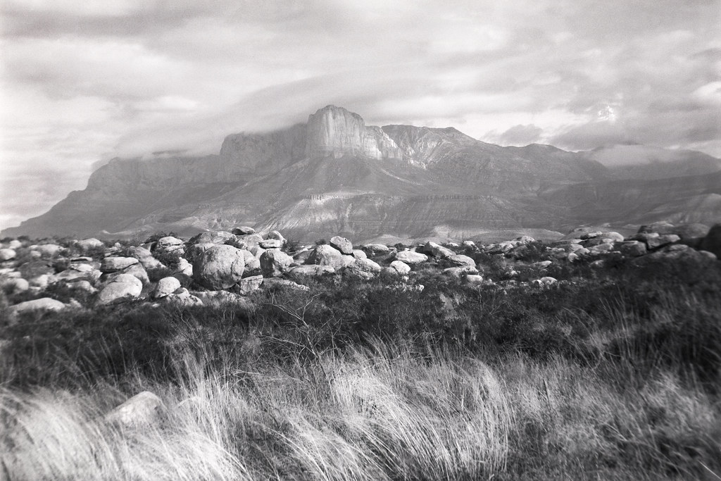 Re Large Format Landscapes Guadalupe Peak Texas Speed Graphic Gundlach Portrait Petzval HP5 Microphen