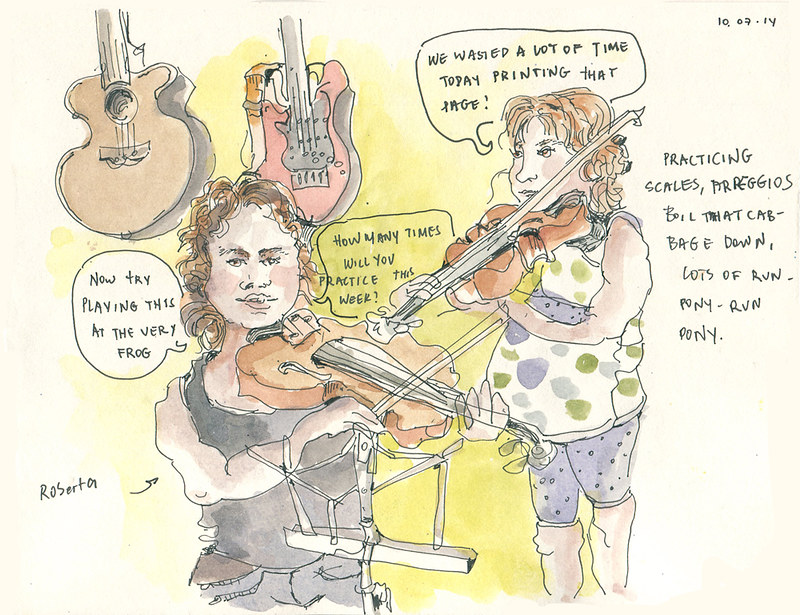 Violin lessons with Roberta