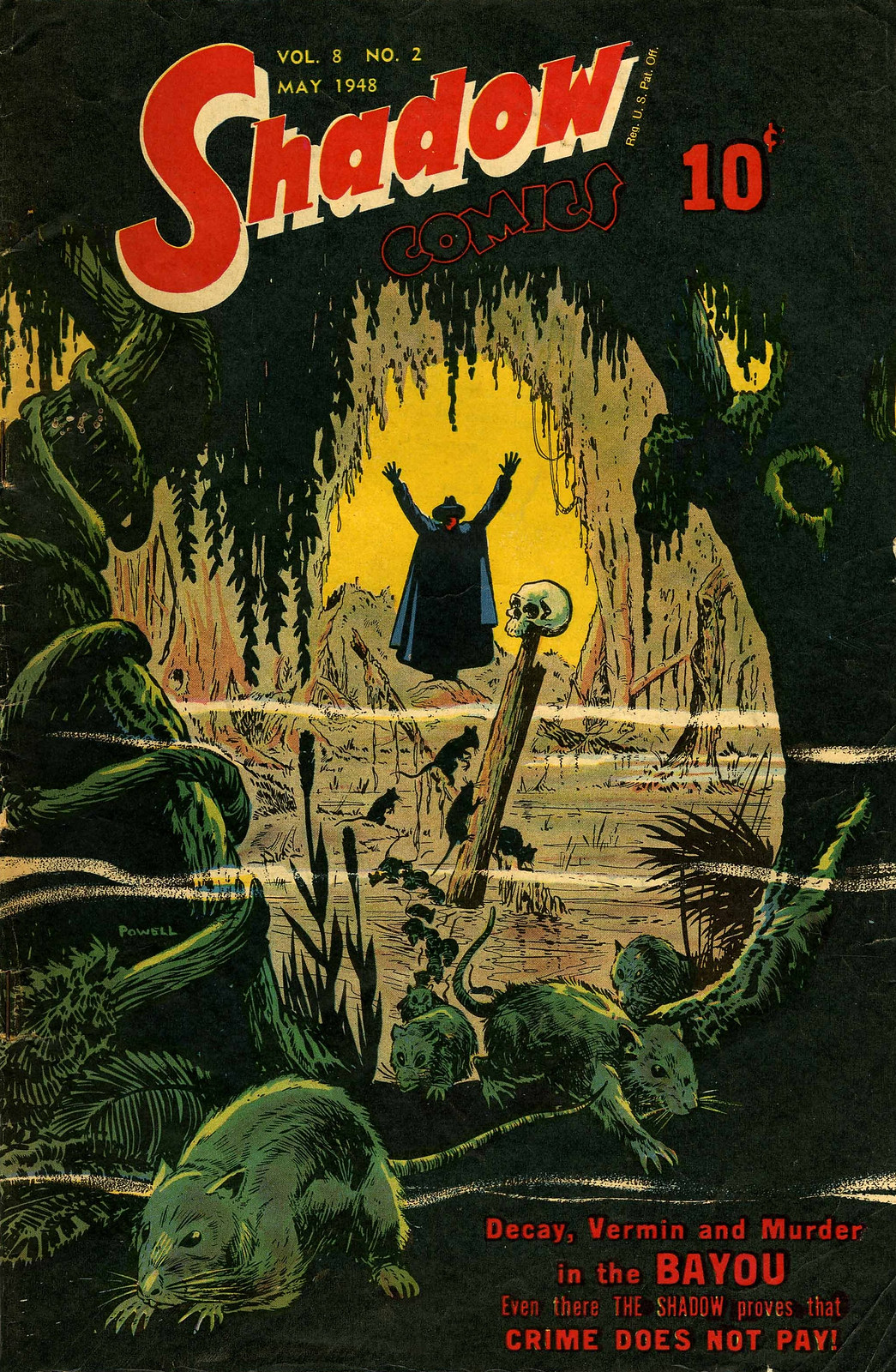 Shadow Comics V8#2 (Street & Smith, 1948) Bob Powell Cover