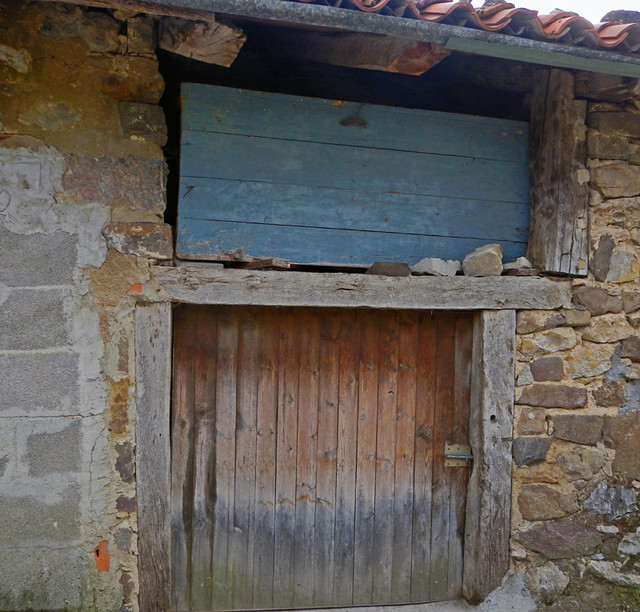 A Stone Barn in a Village in Picos de Europa, Spain