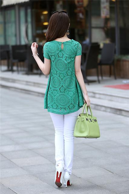 萬花筒綠色洋裝3