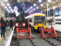 """35028 """"Clan Line"""" at London Victoria 20/12/14"""