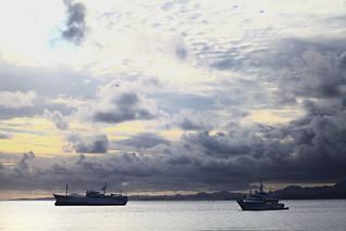 Resting battleships under an angry sky (Suva, Fiji)