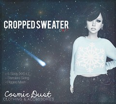 Snowflake Cropped Sweater
