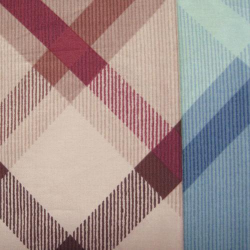 紅晶菱格 精梳棉床品床單布料 CA490296