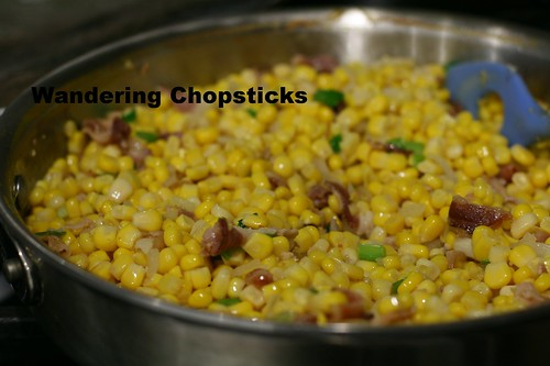 Corn Sauteed with Bacon and Green Onions 2