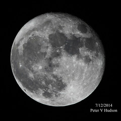 The Moon on 7/12/2014 by PETER HUDSON