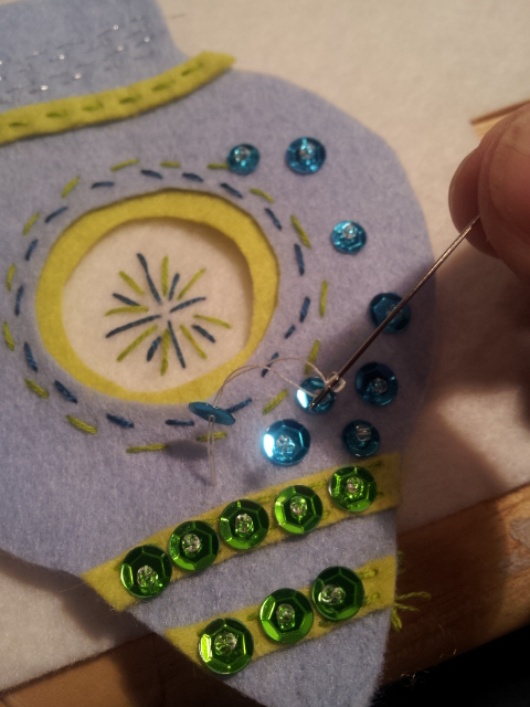 Sequined Felt Ornament