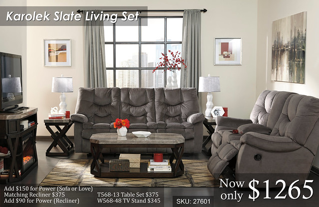 Karolek Slate - Reclining Living Set JPEG