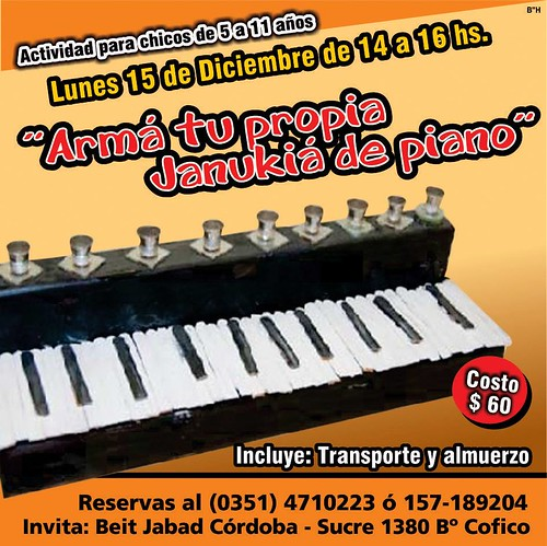 Arma tu propia Janukia de piano