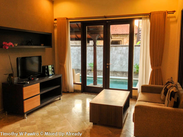 Indonesia - Bali - Seminyak - The Club Villas - The living room with the LCD TV 2
