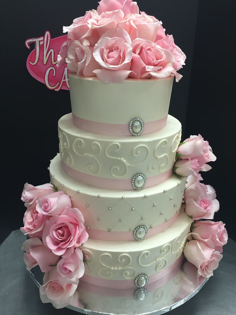 Pink And Ivory Cake A Style Font Size 0 8em