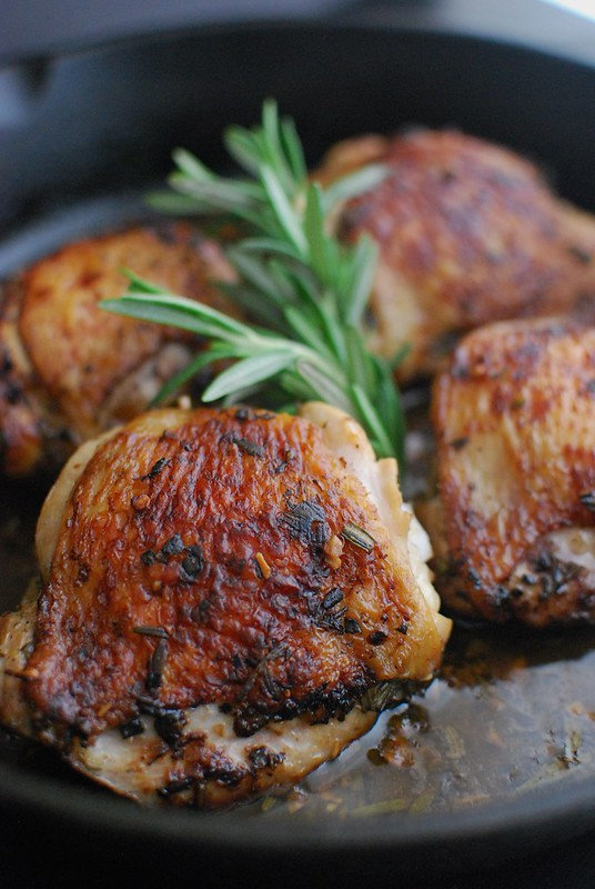 Pan-Roasted Rosemary Chicken Thighs