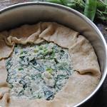 Spelt, ricotta and vegetable pie