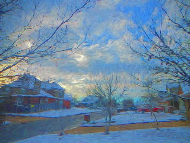 Neighborhood Skywatch Topaz Impressions Swirly Strokes I