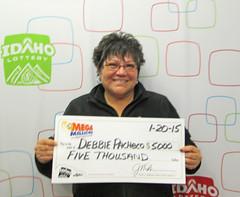 Debbie Pacheco - $5,000 Mega Millions