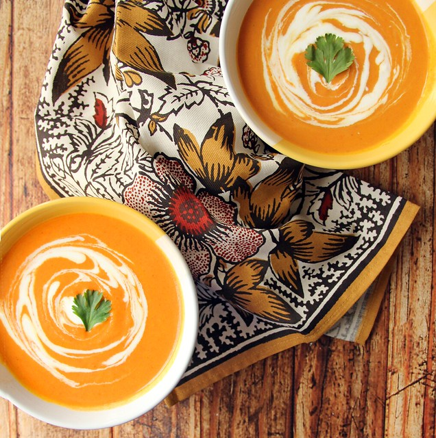 Curried Carrot & Sweet Potato Soup